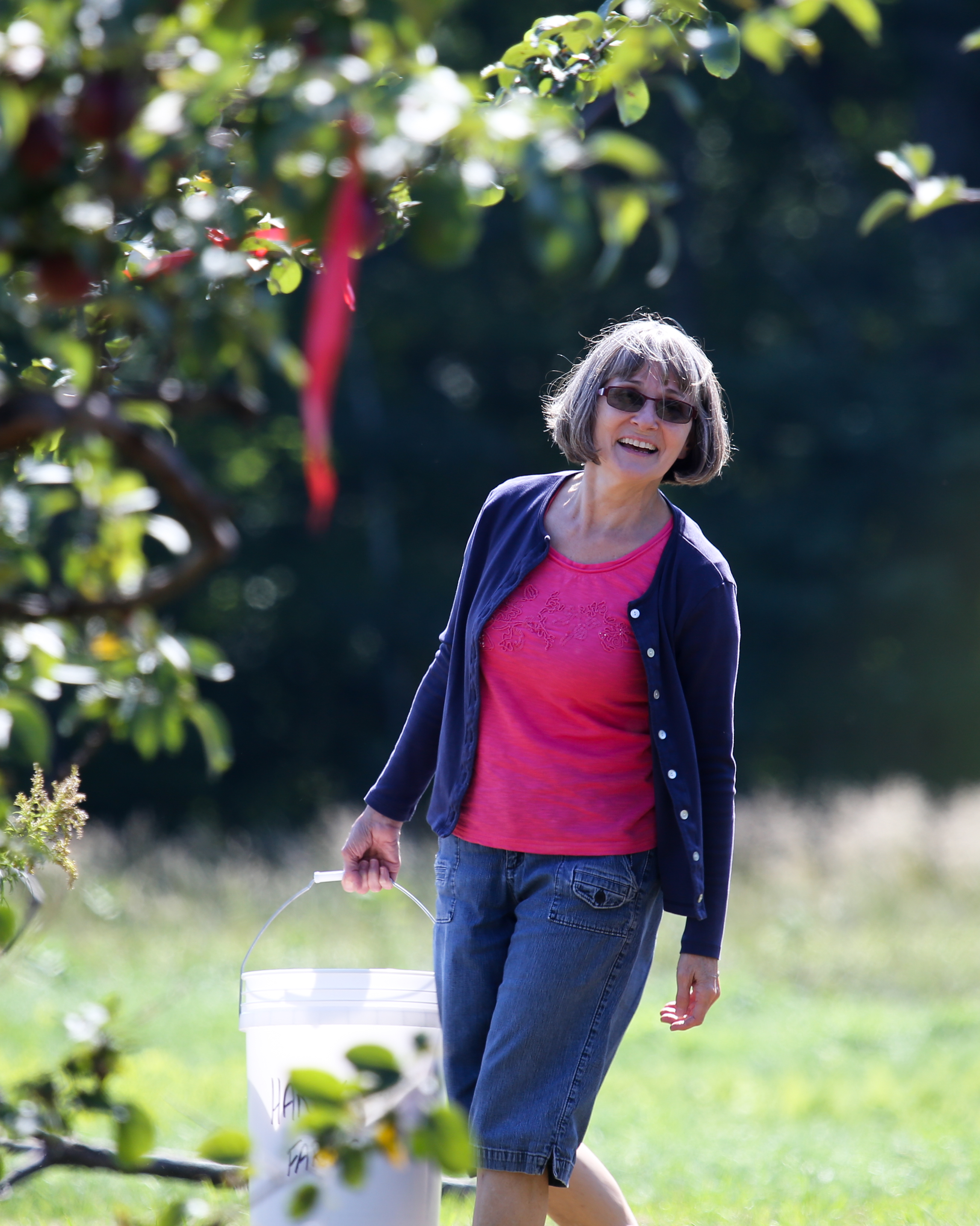 Deb Small picking apples