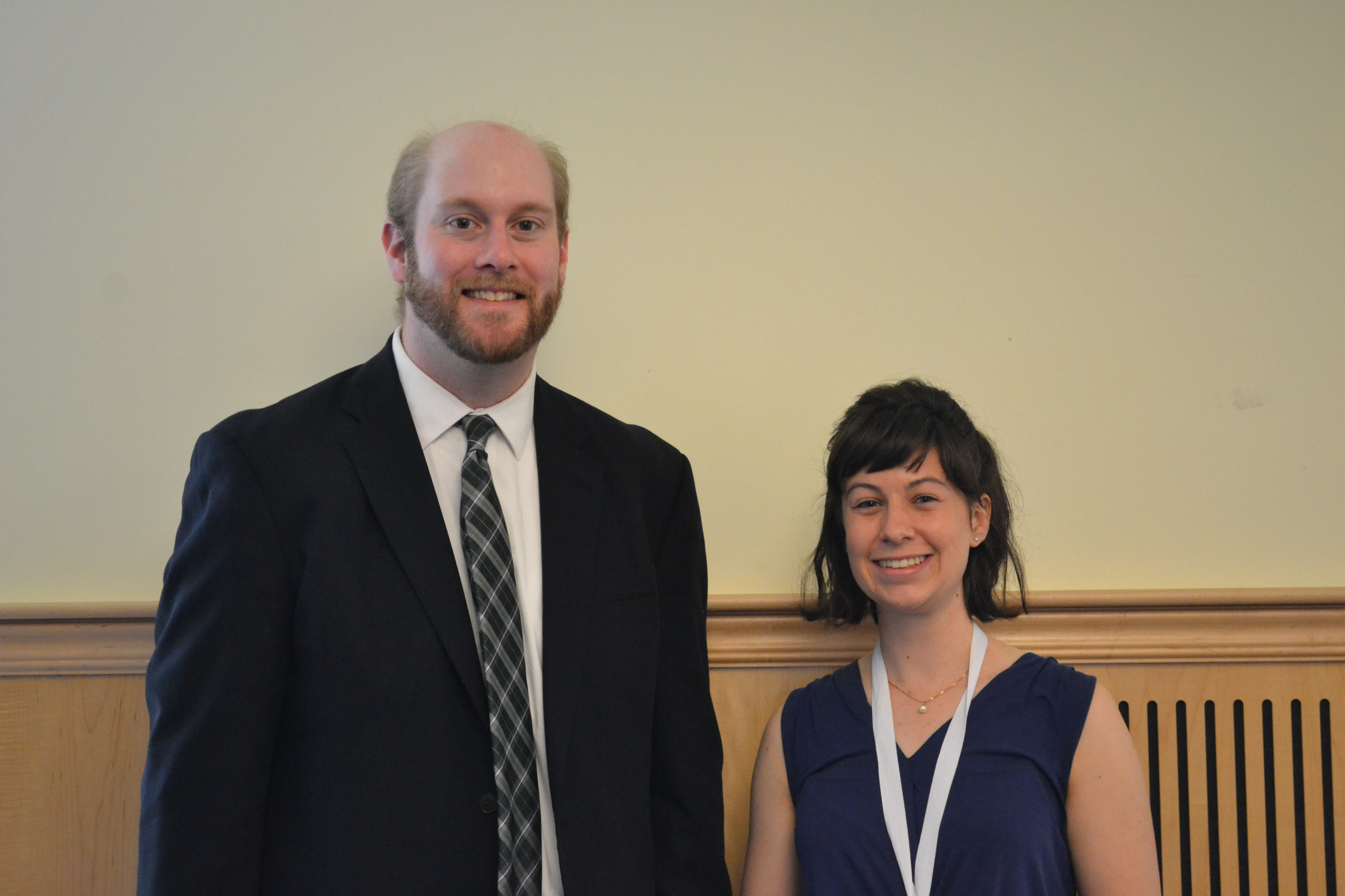 Grace Kiffney and Rob Glover at her thesis advisor Rob Glover at Honors Celebration this past May.