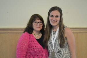 Sarah Mullis and her thesis co-advisor Melissa Ladenheim.