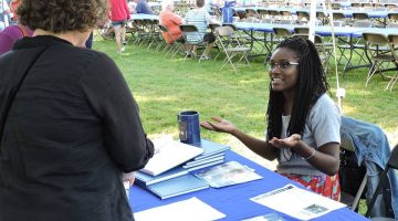 Noelle Leon-Palmer at Prospective Students Day
