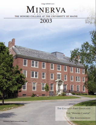 Minerva 2003 cover image, showing Colvin Hall