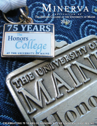 Minerva 2010 cover image, showing an Honors Medallion and an emblem for the 75th Anniversary of the Honors College