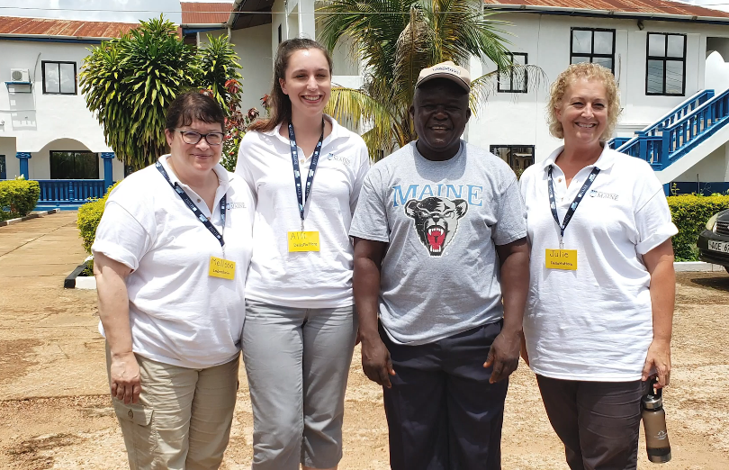 Honors Faculty and student are shown visiting Sierra Leone
