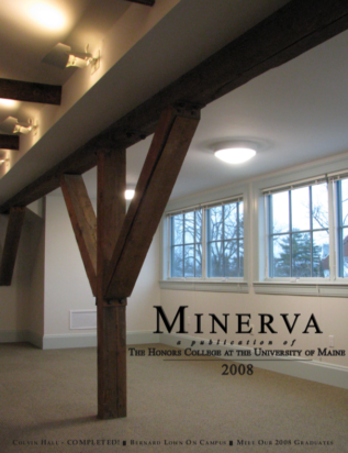 Cover Image of Minerva 2008, showing the renovated 4th floor space in Colvin Hall
