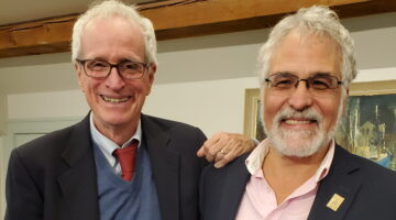 Photo of Jim Tierney and François Amar smiling together