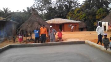 A new drying floor in Sierra Leone.
