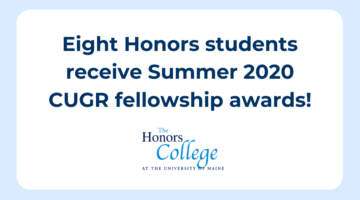 Eight Honors Students Receive Summer 2020 CUGR Fellowships
