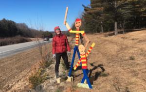 Katie Quirk with sculpture