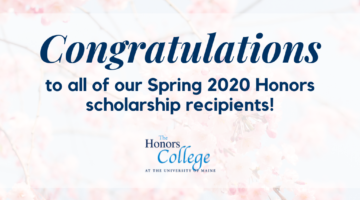 Congratulations to all of our Spring 2020 Honors scholarship recipients!