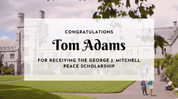Peace Scholarship Announcement - Tom Adams