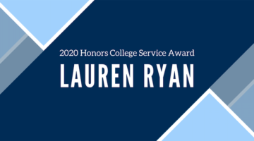 2020 Honors College Service Award - Lauren Ryan