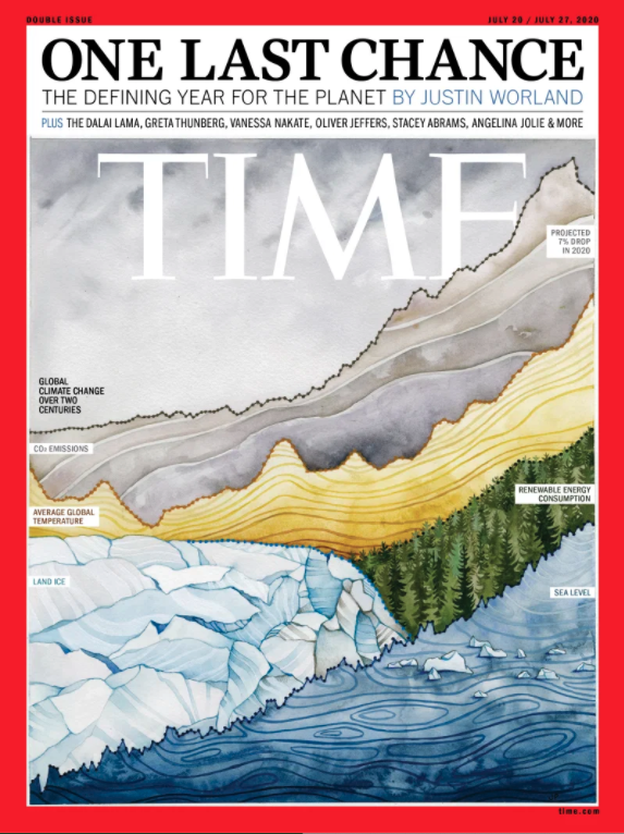 Time Magazine Cover Illustration by Jill Pelto, July 20 2020