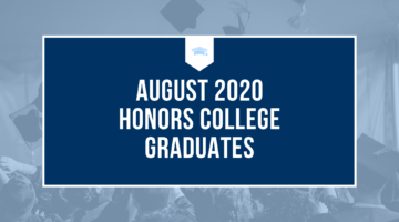 August 2020 Honors College Graduates
