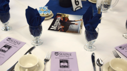 A table setting at the 2019 Honors Celebration event.