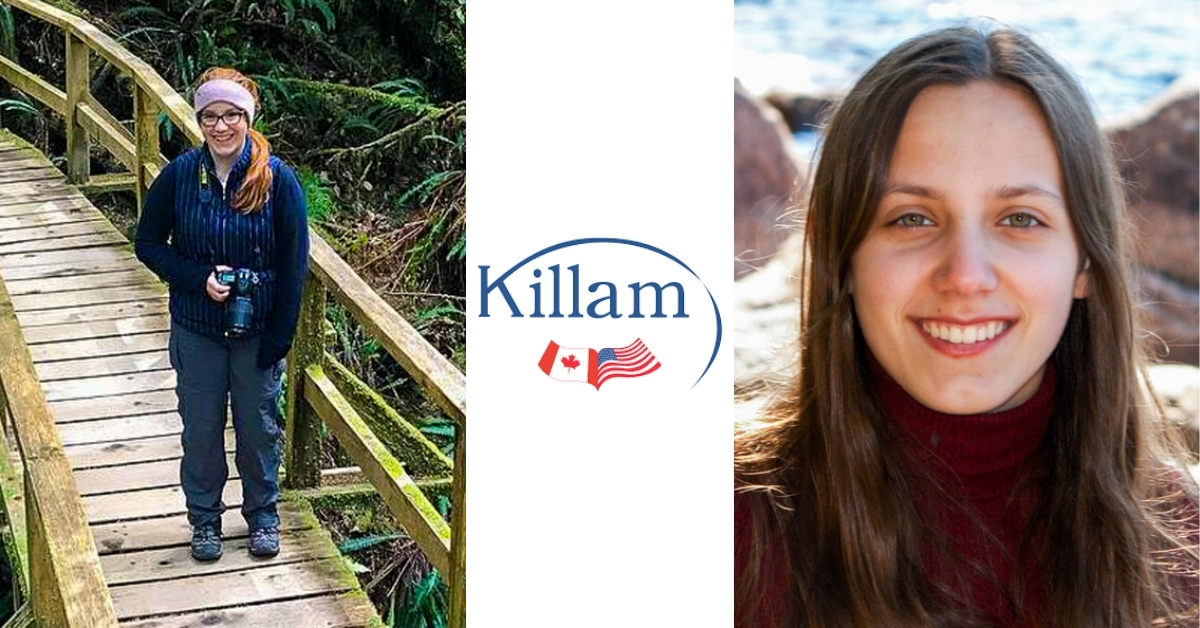 A photo of the two Killam fellows. Left: Abigail Muscat, Right: Sarah Marcotte