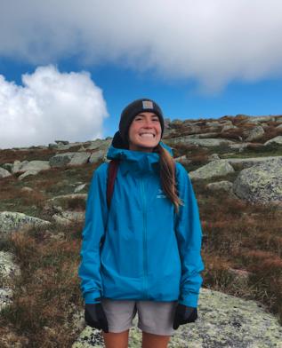 Honors Ambassador Katie Tims on Mt. Katahdin in Maine