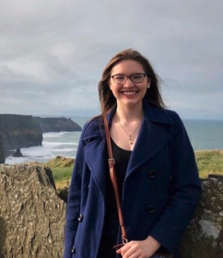 Honors Ambassador Bailey West pictured on the Cliffs of Moher in Ireland